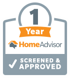 Home Advisor 1 Years Screened And Approved, Logo